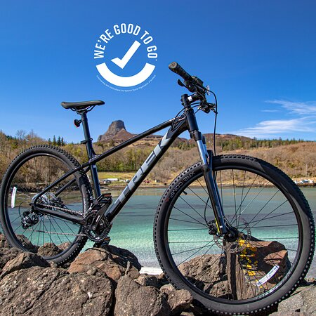 Isle of Eigg, UK: We have a fleet of Trek and Giant bikes available for hire.  We also have child seats, tags and trailers to the little ones.