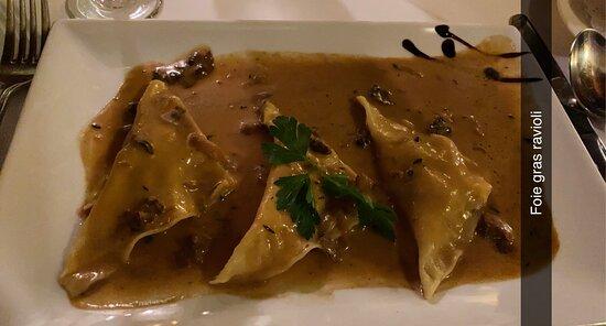 Foie gras ravioli - my husband said the best thing he had on the trip