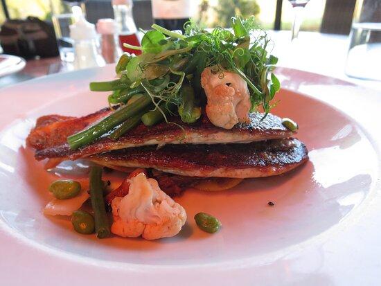 Burnsall, UK: Seabass ravioli