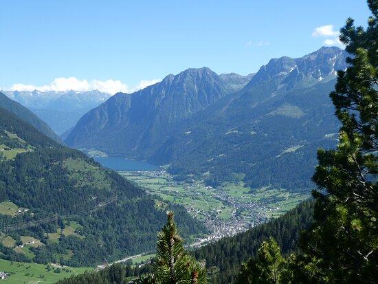 a view towards Poschiavo and the Lago di Poschiavo