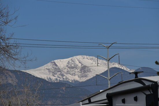 Fountain, CO: Pike's Peak from RV park.