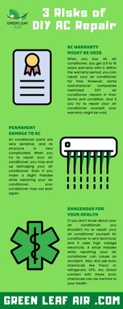 United States: As air conditioner is prone to repairs, many homeowners try to repair their air conditioner by themselves. But there're risks in DIY air conditioner repair. In this article, I'll talk about 3 risks of DIY air conditioner repair.