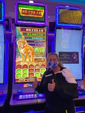 Diamond Club Serrano member Norma won $2,305 at San Manuel Casino on March 13, 2021.
