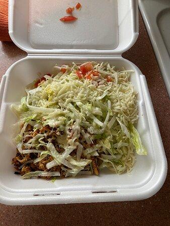 Sun City West, AZ: Shrimp burrito and chicken tostada.