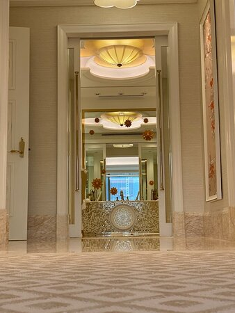 This is the entrance to the enormous bathroom