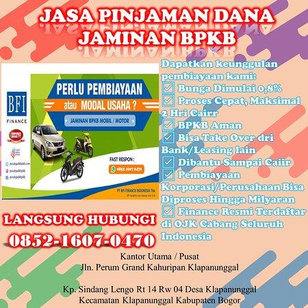 Semarang, Indonesien: PASTI CAIR..Wa 0852 1607 0470 Biro Jasa Gada Bpkb Motor Di Takengon    Dapatkan keunggulan pembiayaan kami: ☑ Bunga Dimulai 0,8% ☑ Proses Cepat, Maksimal 2 Hri Cairr ☑ BPKB Aman ☑ Bisa Take Over dri Bank/Leasing lain ☑ Dibantu Sampai Caiir ☑ Pembiayaan Korporasi/Perusahaan Bisa Diproses Hingga Milyaran ☑ Finance Resmi Terdaftar di OJK Cabang Seluruh Indonesia  Web : https://pusatgadebpkb.com/ Wa : 0852 1607 0470