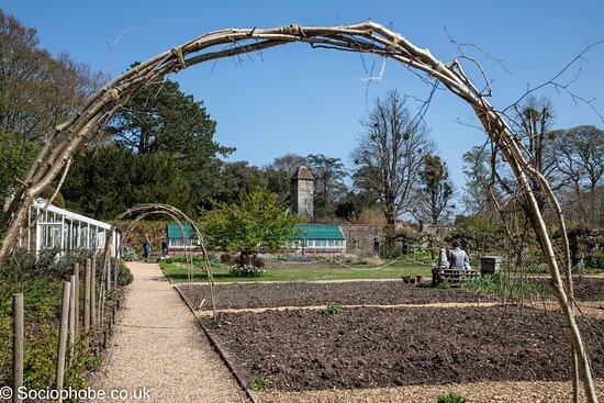 Hinton Ampner, UK: View as you enter the walled garden