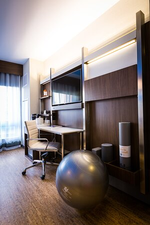 Rooms designed to accommodate work and wellness