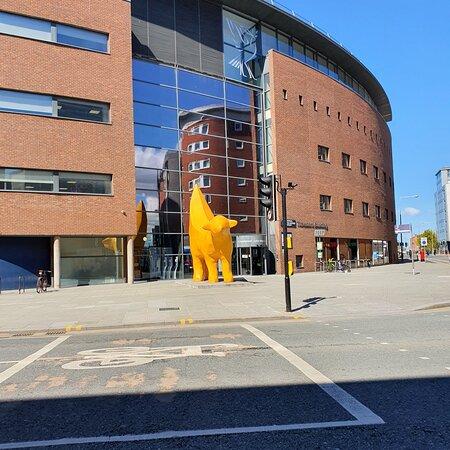 Lambanana Statue in Liverpool Buisness District