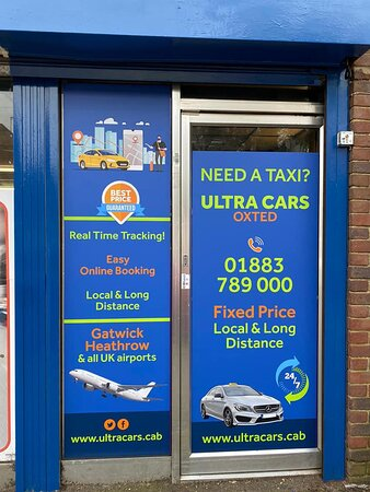 Ultra Cars proudly offers taxis & private hires, airport transfers, meet & greet and other chauffeuring services in Oxted and surroundings.