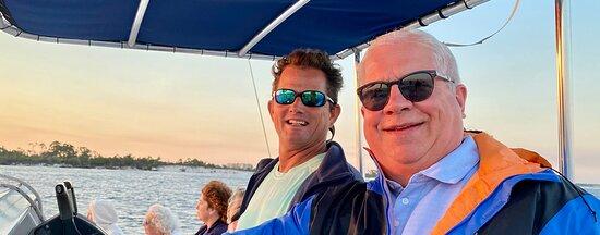 Sunset & Dolphin Catamaran Cruise in Panama City Beach: The Captain (left)