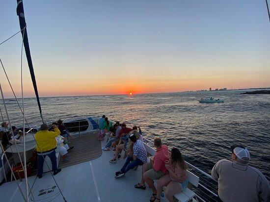 Sunset & Dolphin Catamaran Cruise in Panama City Beach: Sunset