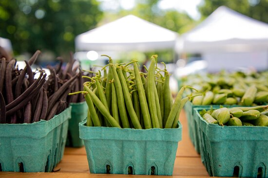 Fresh, local vegetables at the Saratoga Farmers' Market