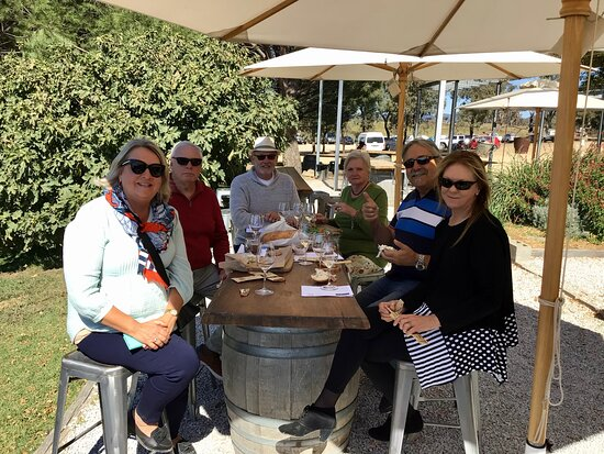 Suella & friends  experiencing good food - good wine - Lovely Autumn weather at Lowe Family Wines. Saturday 24th April 21.