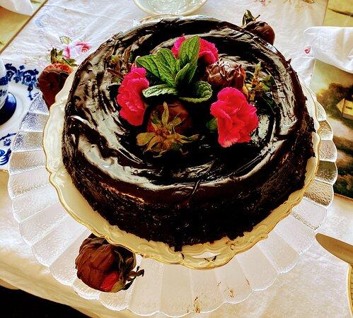 Chocolate Expresso Ganache Cake made for son Sean's Graduation!