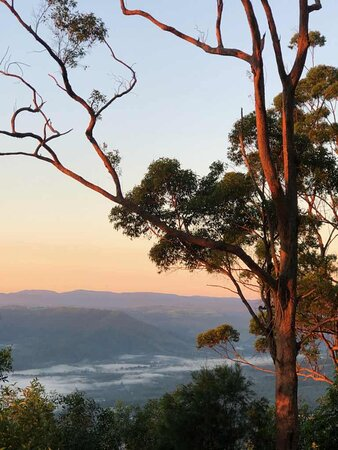 Dawn overlooking the valley