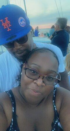 Sunset & Dolphin Catamaran Cruise in Panama City Beach: My husband and I!