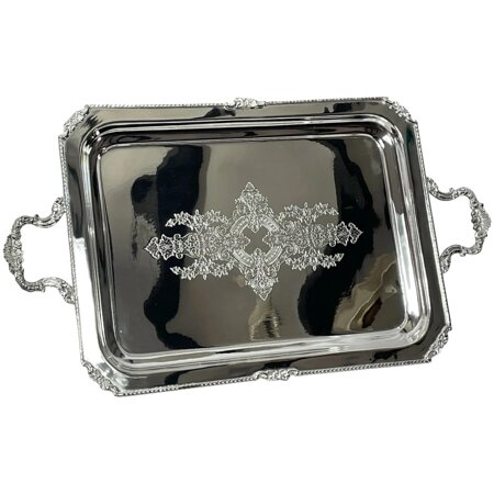Regency Style Sheffield Silver Plate Hallmarked Acanthus Champagne Serving Tray