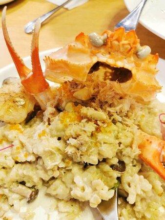 必嚐趣怪松葉蟹意大利飯