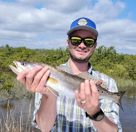 Happy fisherman.
