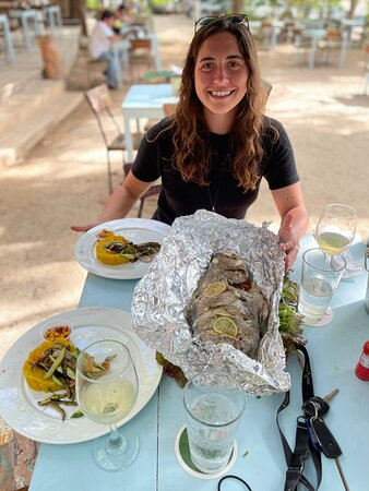 Half day fishing tour: This is the grouper we caught, the restaurant cooked it for us!
