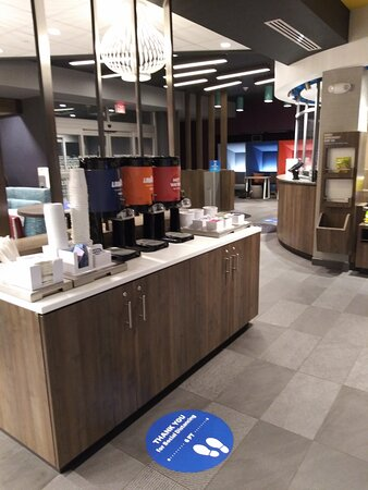 Complimentary Coffee and Tea in the Lobby.