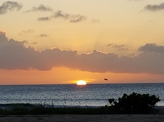Sunset right across the street