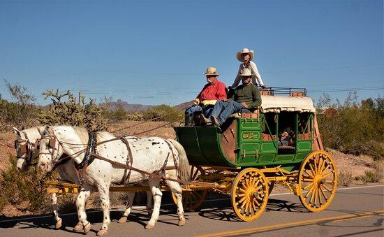 Travel aboard a mud wagon coach around Philipsburg, MT