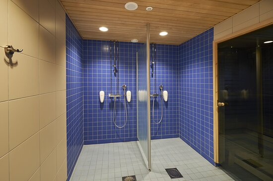 Invigorating showers will cool you after Sauna