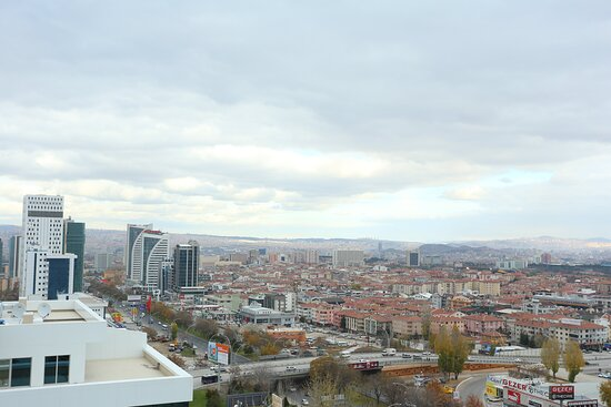 View from Hotel Holiday Inn Ankara Cukurambar