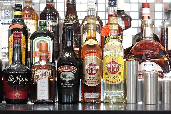 a fully stocked bar awaits you