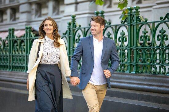 Couple enjoying Melbourne CBD