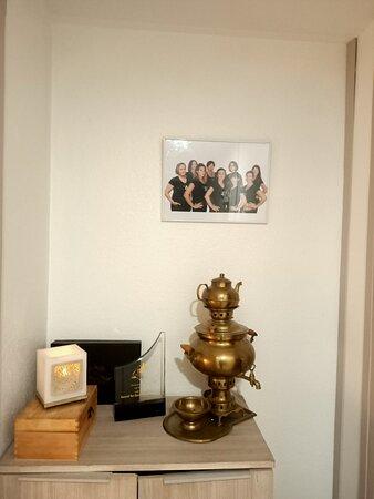 Notre trophé de crystal, 'Excellence en service de massage', décerné par le Jury International 'Thawards'