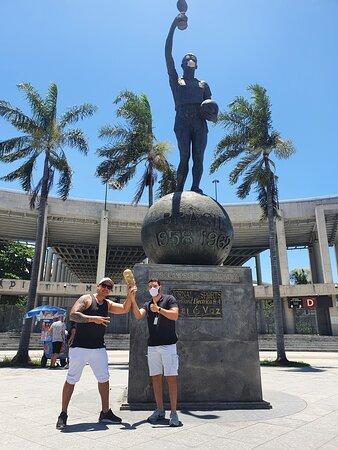 Nosso guia Lucas de novo no Maracanã!