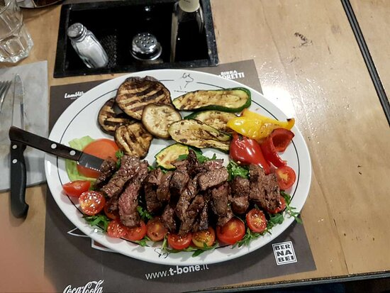 Tagliata wagyu with grilled vegetables