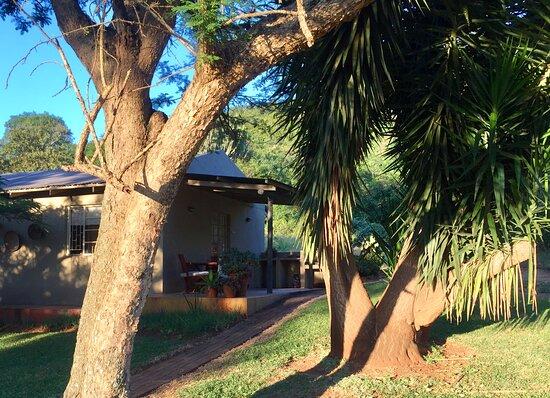 Livhuvu bedroom terrace and braai