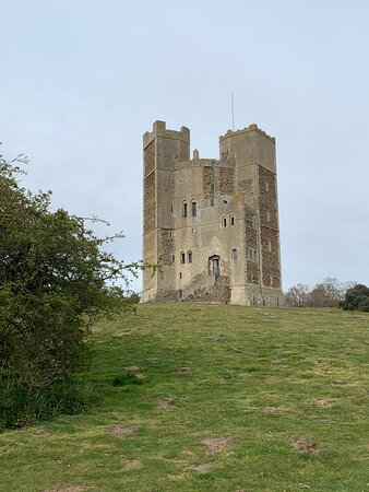 Views of Orford castle and surrounding area