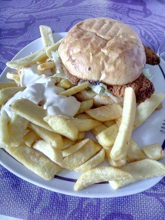 Chicken Nugget Burger