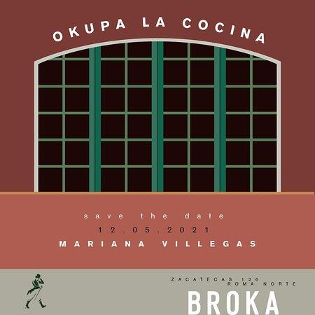 Estamos muy emocionados de comenzar el tercer capítulo de OKUPA LA COCINA DE BROKA. Este 12 de Mayo llega Mariana Villegas.Amiga, chef, creativa y experta en ingredientes locales.NY, Paris, México, han albergado su pasión y sazón; ahora en BROKA estamos listos para recibirla por una noche con un menú especial e increíble.El cupo es limitado, así que reserva ahora y no te pierdas la experiencia.  WA +52 55 8425 6533 PARTICIPA: Johnnie Walker