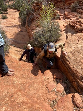 Getting to the hidden places - three points of contact!