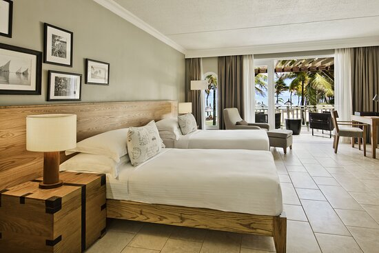 Outrigger Mauritius Resort Beach front 2 Twin beds