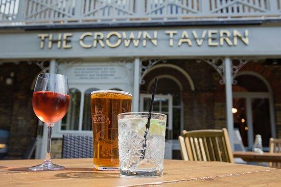 Crown pub garden