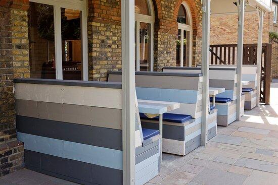 Pub garden booths