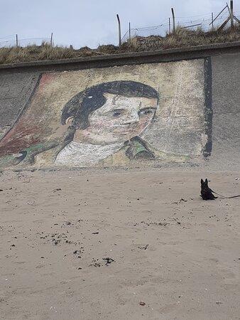 Robert burns mural at Stevenston beach