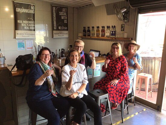 Ange's 50th! Half Day Wine Tour at Baker Williams Gin Distillery, Mudgee. 1st stop of 4 …Schnapps, Liqueur, Lemon Myrtle Liqueur & Gin ( of course)