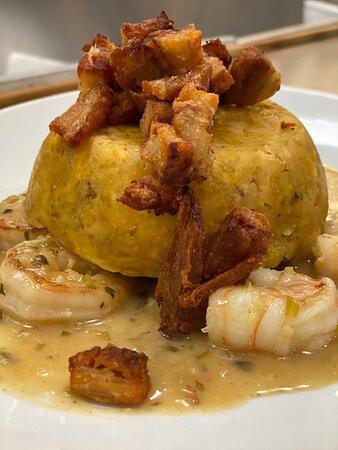 Garlic Shrimp Mofongo