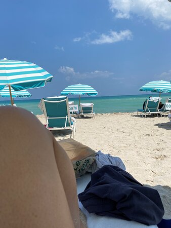 Beautiful view from shaded beach chair.