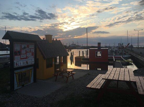 Rasmus Klumps hus og det gode skib Mary  i Bagenkop Havn
