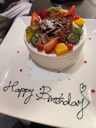 慶生送的蛋糕,很有誠意!