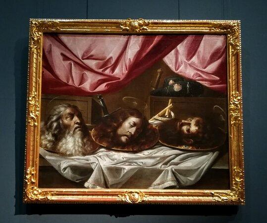 Le teste dei Santi Paolo, Giovanni Battista e Giacomo -Sebastián de Llanos Valdés